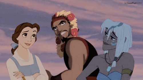 sinbad, belle and kida