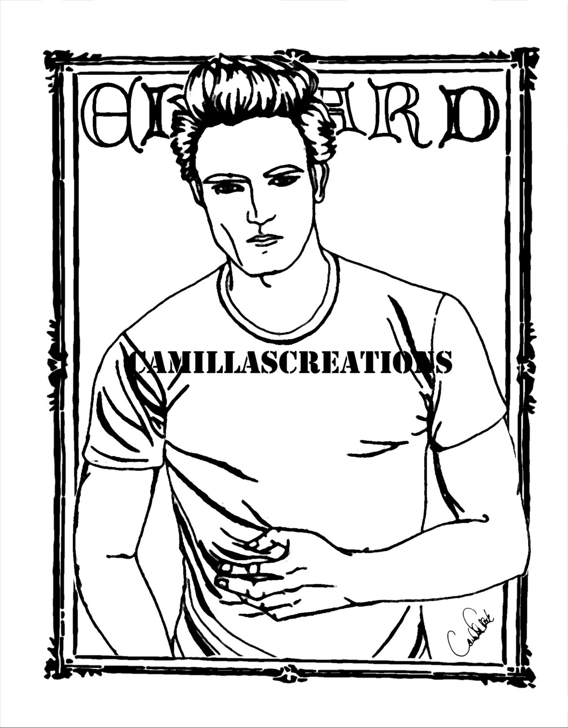 jacob from twilight coloring pages coloring pages