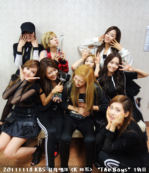SNSD @ KBS música Bank Backstage Official Picture