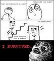 OMG Rage Face Stairs