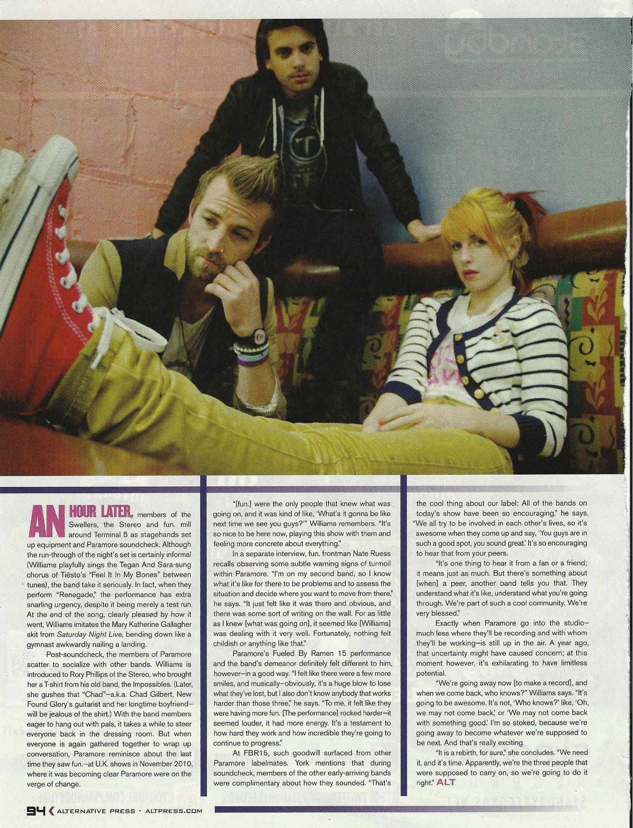 Alternative Press Magazine Outtakes