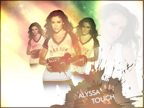 Alyssa Milano wallpaper possibly containing a sign and a portrait entitled AlyssaMilano!