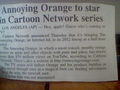 Annoying jeruk, orange to bintang in Cartoon Network series