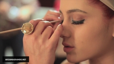 Ariana Grande getting ready / as Dorothy for Viva Glitter Viva Glamour