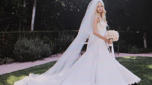 Avril at her wedding