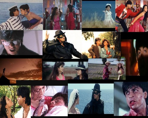Shahrukh Khan wallpaper probably containing anime called Baazigar Collage