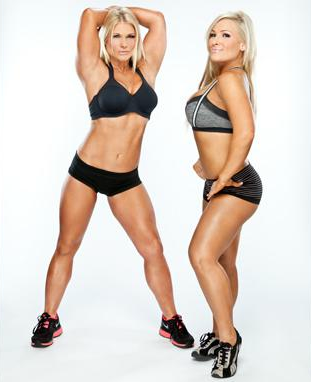 beth phoenix wallpaper possibly containing a bikini and a g string entitled Beth Phoenix and Natalya