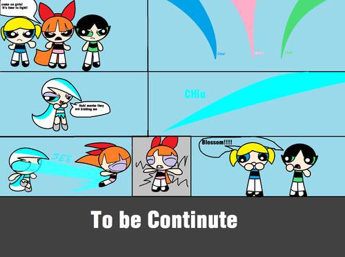 Blue VS powerpuff girls part 1 (Comics)