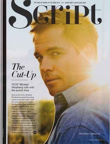 Michael Weatherly wallpaper possibly containing a newspaper, a sign, and anime called CBS Watch Magazine