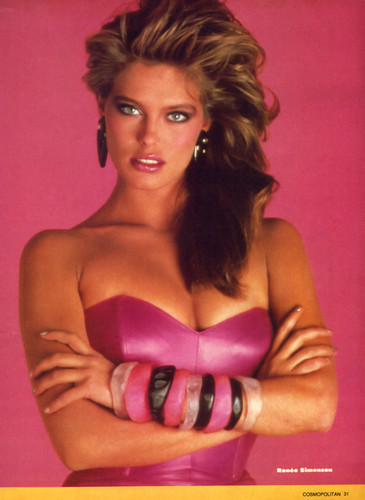 The 80s wallpaper possibly with a brassiere, attractiveness, and an uplift called Cosmo July '87