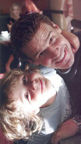 David Boreanaz and Ty Panitz Goof Around