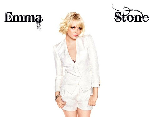 emma stone wallpaper probably with a well dressed person entitled Emma Stone Wallpaperღ
