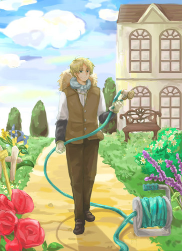 Hetalia wallpaper probably with a vacuum called England