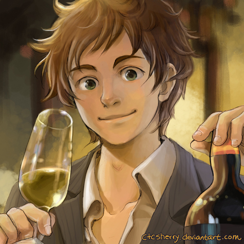 Hetalia Spain fond d'écran probably with a wine bottle, a wine bar, and a champagne titled España