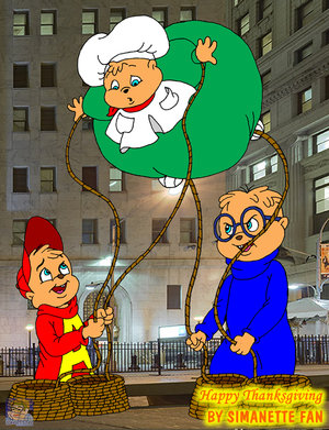 Alvin and the Chipmunks wallpaper probably with a street and anime called Happy Thanksgiving!