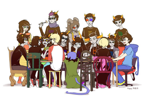 Homestuck mashabiki karatasi la kupamba ukuta possibly with anime entitled Homestuck Group