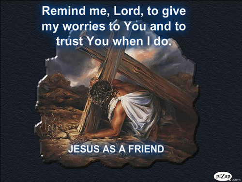 JESUS AS A FRIEND uithangbord PAPER