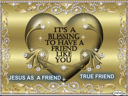Jésus AS A FRIEND mur PAPER