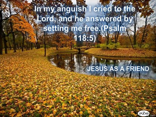 JESUS AS A FRIEND WALL PAPER