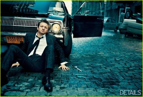 Jeremy Renner photoshoot of Detalis Magazine 2012 Dec./Jan.