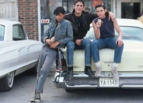The Outsiders wallpaper probably with a street and an automobile titled Johnny,Pony,Dally