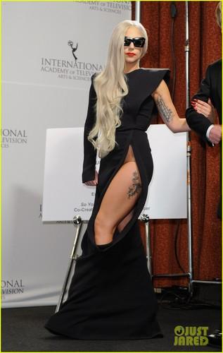 Lady Gaga at the 39th International Emmy Awards (November 21) in NYC