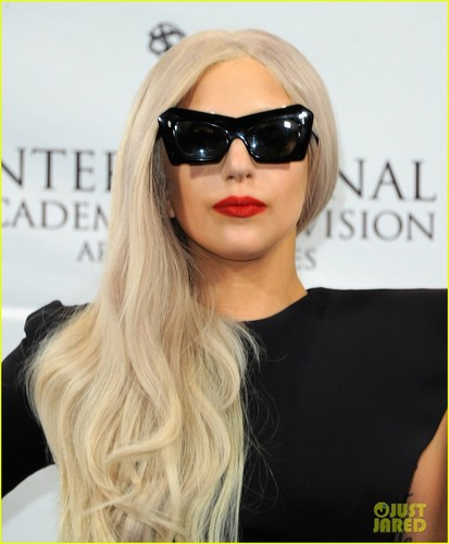 Lady Gaga at the 39th International Emmy Awards (November 21) in NYC