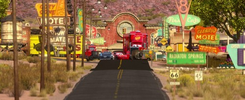 Lightning in Radiator Springs