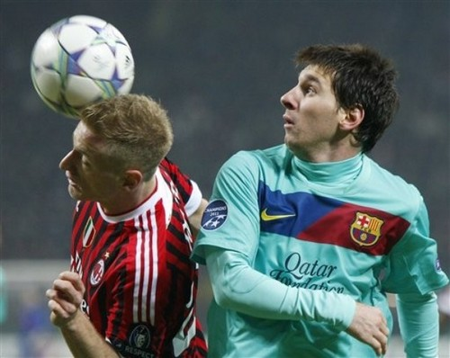 Lionel Messi - AC Milan (2) v FC Barcelona (3)