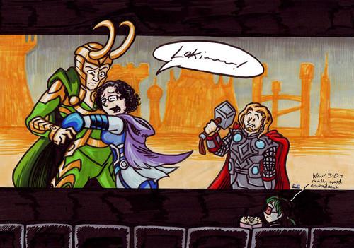 Loki & fan Girl