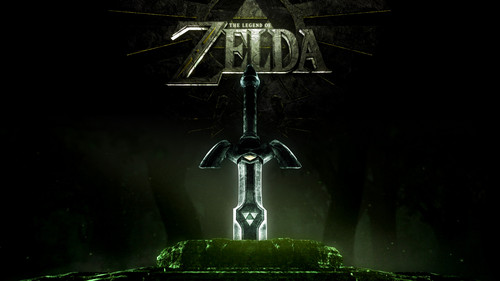 The Legend of Zelda wallpaper probably with a bell and a fountain titled Master Sword