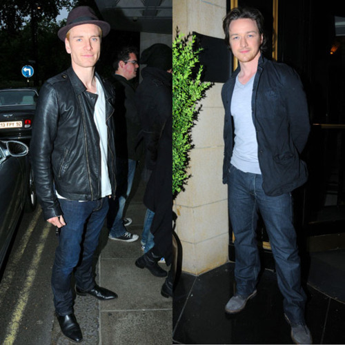James McAvoy and Michael Fassbender 壁紙 with a business suit, a dress suit, and a well dressed person titled McFassy