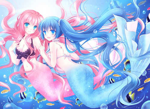 Mermaid Luka And Miku<3