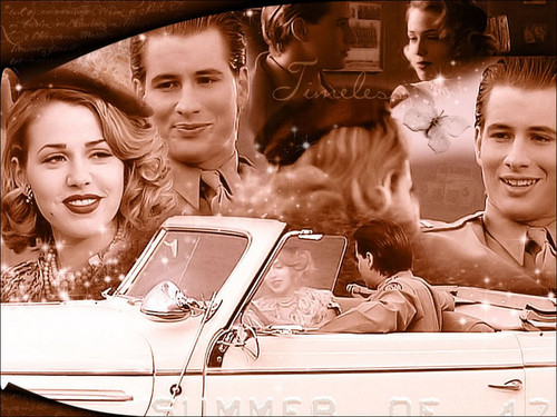 Michael & Maria wallpaper possibly with a convertible called Michael and Maria