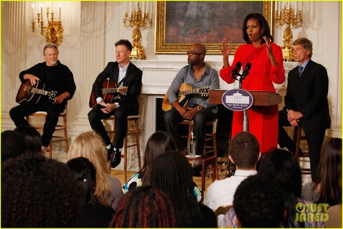 Michelle Obama in the State Dining Room on Monday (November 21) in Washington, DC