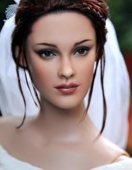 Muñecos representativos de Edward y Bella en la boda