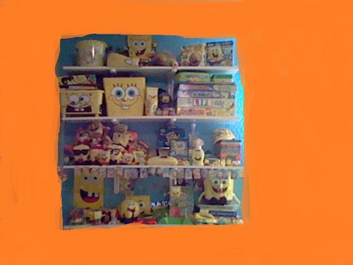 Spongebob Squarepants wallpaper called My SpongeBob SquarePants Shelf