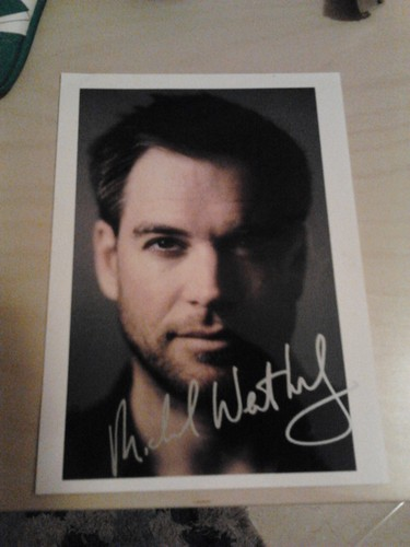 My autograph of Michael Weatherly - michael-weatherly Photo