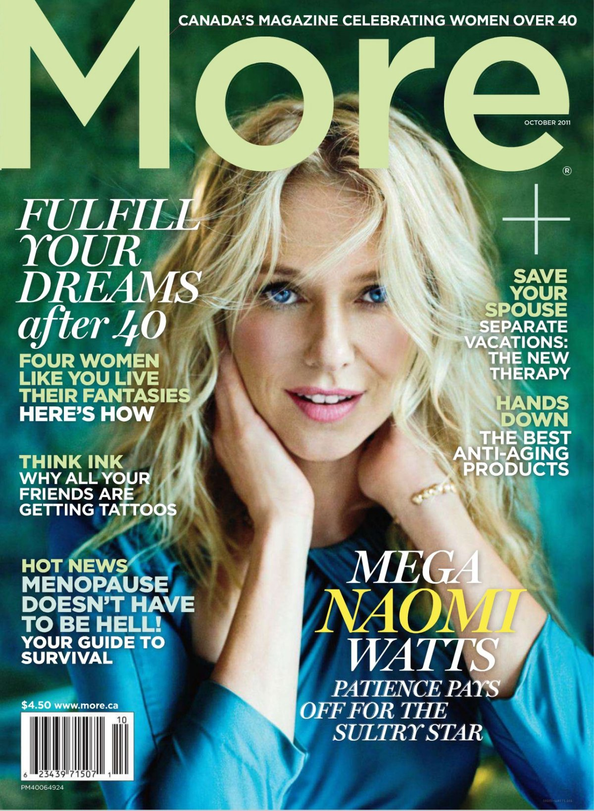 More Magazine November 2014 Issue: More Magazine Oct. 2011