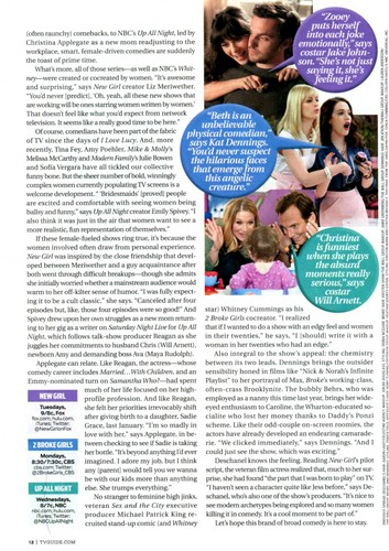 New Girl in TV Guide,Nov. 2011