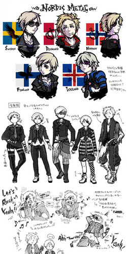 My Hetalia Family RP wallpaper with anime titled Nordic Metal B|