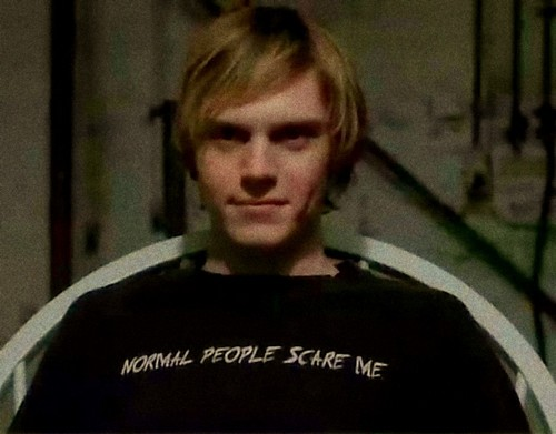 American Horror Story wallpaper containing a jersey and a portrait entitled Normal people scare me.