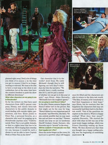 OUAT - EW Magazine scans - Burning questions answered!