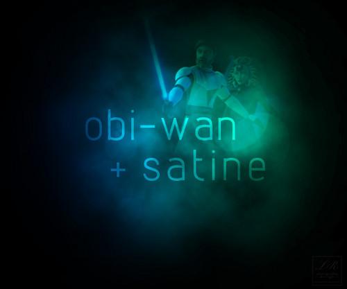 Obi-Wan and Satine-clouds