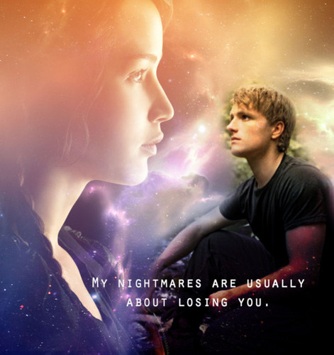 Peeta Mellark wallpaper probably with a concert called Peeta & Katniss