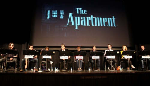 Performing in a live 読書 of The Apartment at LACMA, Los Angeles (November 17th 2011)