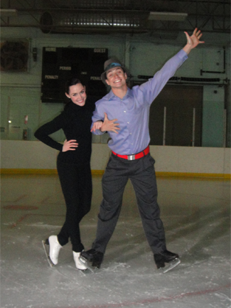 Tessa Virtue & Scott Moir wallpaper possibly containing a business suit titled Photoshoot Funny Face