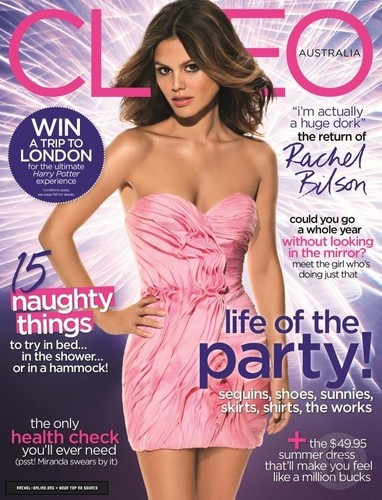 "Rachel covers Australian ""Cleo"" magazine [December 2011]"