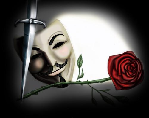 V For Vendetta Wallpaper Called Rose Mask Dagger