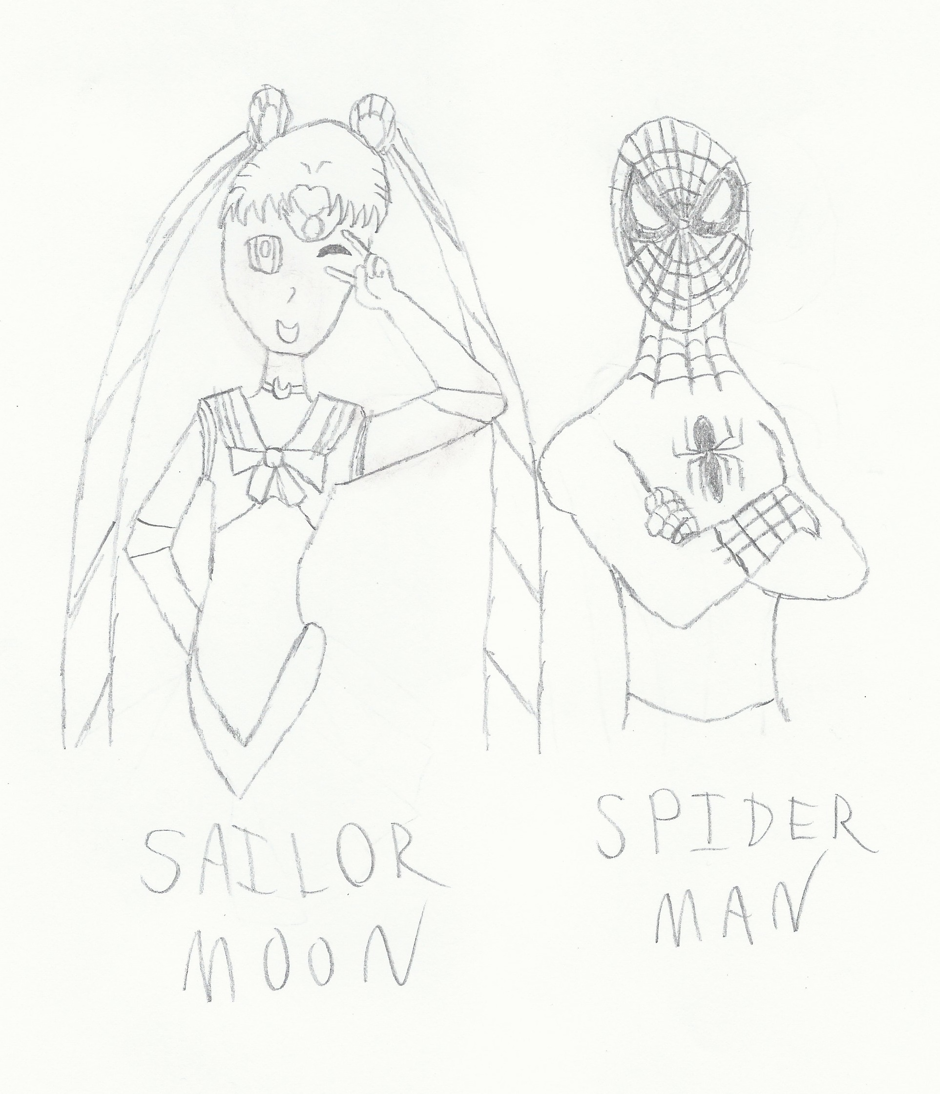 Sailor Moon and aranha Man